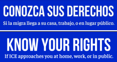 Know Your Rights Spanish and English